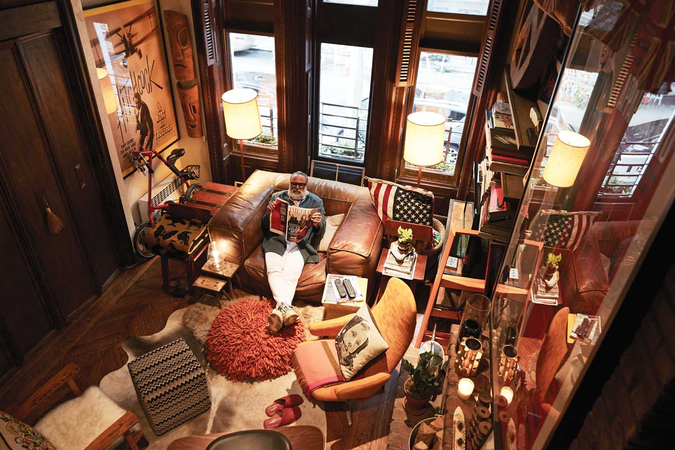 A Classic Manhattan Brownstone with a Maximalist Interior